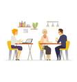 coffee room - modern cartoon characters vector image