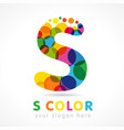 colored s logo concept vector image vector image