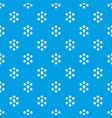 cube molecule pattern seamless blue vector image