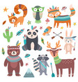 cute tribal animal forest wild animals zoo vector image vector image