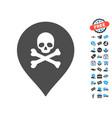 death marker icon with free bonus vector image vector image