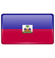 Flags Haiti in the form of a magnet on vector image vector image