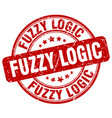 fuzzy logic red grunge stamp vector image vector image