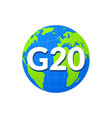 g20 world globe infographic map icon summit vector image vector image