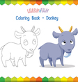 Goat coloring book educational game vector image vector image