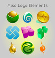 graphic logo elements vector image vector image