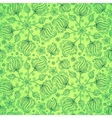 Green abstract doodle flowers seamless pattern vector image vector image