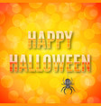 happy halloween poster with spider vector image vector image