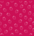 juicy seamless pattern with white strawberries vector image vector image