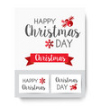 lettering christmas card vector image