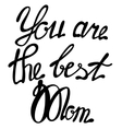 Lettering you are the best Mom vector image vector image