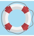 lifebuoy web flat icon vector image vector image