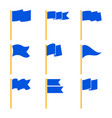 markers or pointer blue flags set vector image vector image
