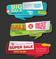 modern super sale flat banner collection 1 vector image vector image