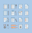 office paper documents and stationery signs icons vector image