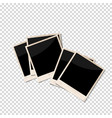 old photo frames isolated on transparent vector image vector image