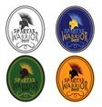 Old Vintage Antiques Spartan warrior beer bottle vector image vector image