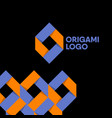 origami color monogram vector image