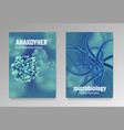 posters about microbiology and viruses 3d vector image vector image