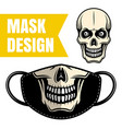 protective fabric mask design with skull vector image vector image