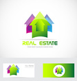 Real estate colored house vector image vector image
