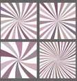 Retro spiral and ray burst background set vector image vector image