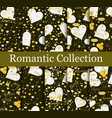 romantic seamless pattern set love background vector image vector image