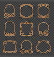 rope border set vector image vector image