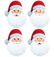 Santas head vector image