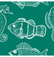seamless background with underwater life vector image