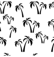 seamless black palms vector image vector image
