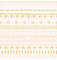seamless pattern with ethnic tribal hand-drawn vector image vector image
