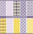 seamless wallpaper patterns vector image vector image