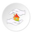 Security at home icon cartoon style vector image
