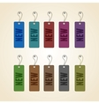 set colorful new tags vector image