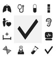 set of 12 editable clinic icons includes symbols vector image vector image