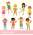 set of children of different nationalities vector image vector image