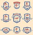 set of marlin swordfish emblems design element vector image