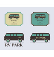 Set of vintage outdoor camp badges and logo vector image vector image