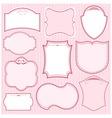 set pink frames vector image vector image
