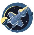 Spacecraft spaceship in space planet vector image vector image