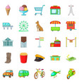 supermarket icons set cartoon style vector image vector image