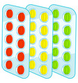 tablets blister packs vector image vector image