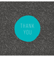 thank you stylish card vector image