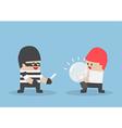 Thief robbing idea bulb from businessman vector image vector image