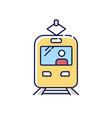tram rgb color icon vector image vector image