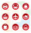 Transportation Big Colorful Icon Set vector image
