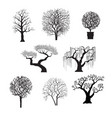 tree silhouettes for design vector image vector image