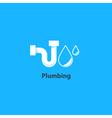 Tube and drop plumbing logo vector image vector image