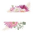 watercolor floral wedding frame pampas vector image vector image